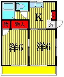 吉野ハイツ北松戸[2階]の間取り