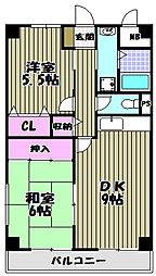 ハイマート宮山台[2階]の間取り