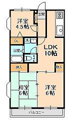 ベル・ビュー松戸[2階]の間取り