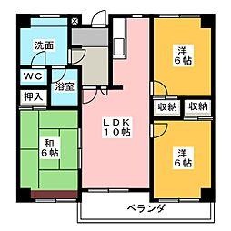 エクセルヤマキ[4階]の間取り