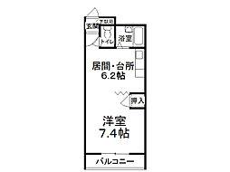 クローバーズマンション ロード1[1階]の間取り