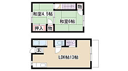 [テラスハウス] 愛知県名古屋市天白区植田山5丁目 の賃貸【/】の間取り