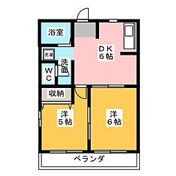 グリーンハイム21[1階]の間取り
