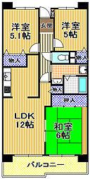 酉島リバーサイドヒルなぎさ街16号棟[8階]の間取り