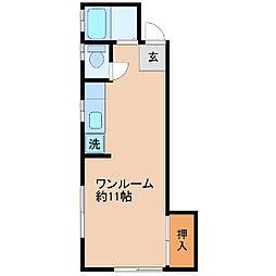 サンハイツ(木崎)[102号室]の間取り