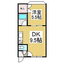 シエムI[2階]の間取り