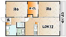 クレアールライフ奈良 A棟[1階]の間取り