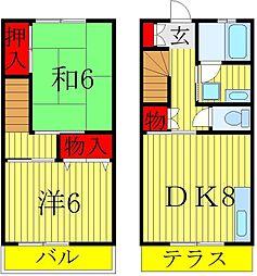 [テラスハウス] 千葉県松戸市秋山 の賃貸【千葉県 / 松戸市】の間取り
