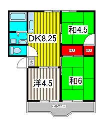 サンハイツ7[2階]の間取り