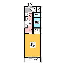 愛知県名古屋市港区稲永1の賃貸マンションの間取り