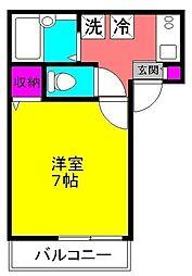 アパートメント須佐[102号室]の間取り