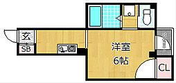 宮之阪ハイツ参番館[5階]の間取り