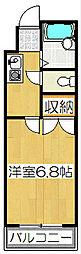 京都府京都市山科区厨子奥尾上町の賃貸マンションの間取り