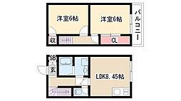 [テラスハウス] 愛知県名古屋市緑区鳴海町字丸内 の賃貸【/】の間取り