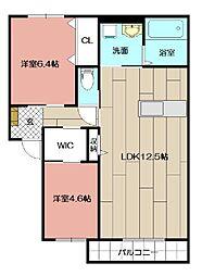 KASUGA抱月2010 A棟[202号室]の間取り