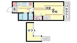 兵庫県神戸市兵庫区松本通8丁目の賃貸マンションの間取り