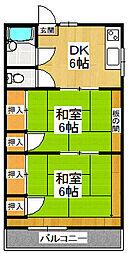 鈴木ハイツ[305号室]の間取り