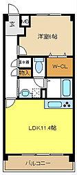 愛知県名古屋市北区如意1の賃貸マンションの間取り