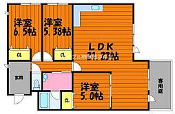 仮)田ノ上マンション[1階]の間取り