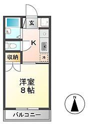 長野県長野市箱清水2丁目の賃貸アパートの間取り