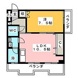 カルチェラタンビル[3階]の間取り