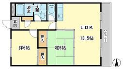 バルビゾン岡田[3階]の間取り