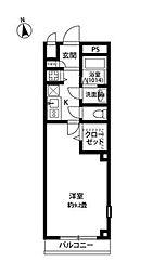 東京都江戸川区松江2丁目の賃貸マンションの間取り