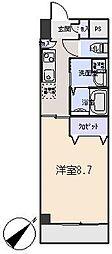 愛知県岡崎市橋目町字阿知賀の賃貸マンションの間取り