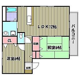ケイズアプローズE棟[1階]の間取り