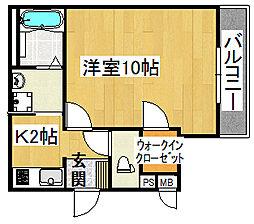 フジパレス浜町A棟[3階]の間取り