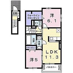 サンシーサイドIII[2階]の間取り