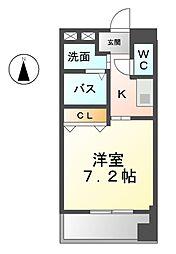 愛知県一宮市本町2丁目の賃貸マンションの間取り
