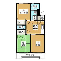 第三グリーンハイツ瑞鳳[4階]の間取り