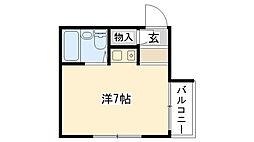 ロイヤルメゾン甲子園七番町[201号室]の間取り