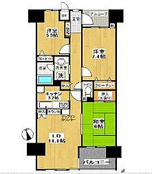 コスモ戸塚ルミネンス[3階]の間取り
