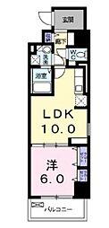 岡山電気軌道清輝橋線 大雲寺前駅 徒歩7分の賃貸マンション 4階1LDKの間取り