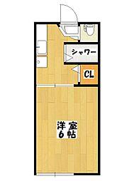 ピュアハウス市川[1階]の間取り