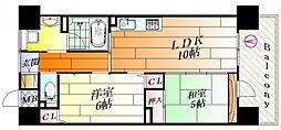 エイジングコート千里丘[15階]の間取り