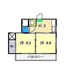 平成ハイツ(鵜来巣)[1階]の間取り