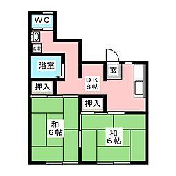 横沢アパート[2階]の間取り