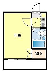 愛知県豊田市栄町6丁目の賃貸アパートの間取り