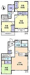 [一戸建] 千葉県船橋市前原東5丁目 の賃貸【/】の間取り