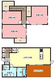 [一戸建] 静岡県浜松市中区和合北4丁目 の賃貸【/】の間取り