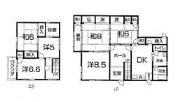 [一戸建] 兵庫県姫路市中地 の賃貸【/】の間取り