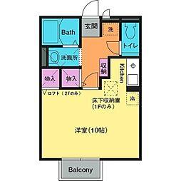 ボンメゾンTROIS[2階]の間取り