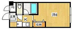 北栄マンション八瀬[1階]の間取り