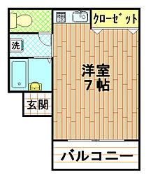 ヤマビコハイツ[3階]の間取り