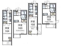 東京都板橋区本町の賃貸マンションの間取り