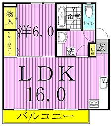 LAND FOREST Minamikasiwa[202号室]の間取り