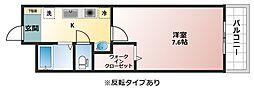 大阪府八尾市宮町2丁目の賃貸アパートの間取り